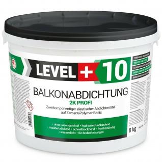 8kg Balkonabdichtung Dichtschlämme 2K Dichtfolie Dichtband Bad Profi RM10