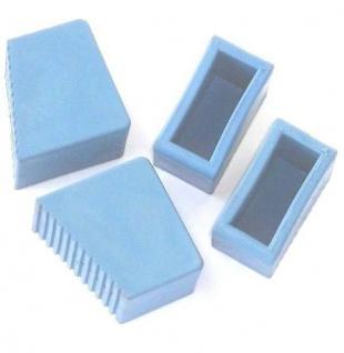 4 Leiterfüße, 60x25 blau abriebfest rutschfest schont Oberfläche, dehnungsfähig