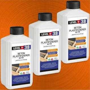 Beton-Zusatzmittel 3L Fliessmittel Plastifizierer Verflüssiger LEVEL+ RM38