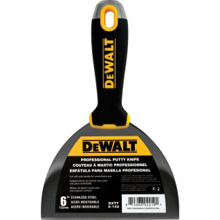 """DEWALT Spachtel Malerspachtel 152mm, 6"""" Stielspachtel Soft Griff PROFI"""