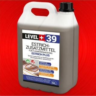 Estrichzusatzmittel 5L Fussbodenheizung Heizestrich Zementestrich LEVEL+ RM39