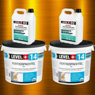 Spachtel Masse 40kg Fertig Fugenspachtel Glätt-Set + Acryl Tiefgrund 10L SET601