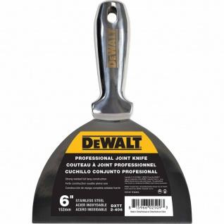 PROFI Spachtel ganz aus Edelstahl DEWALT rostfrei 152 mm Malerspachtel Schaber