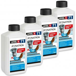 4kg kaustisches Soda Ätznatron Natriumhydroxid NaOH sichere Flasche RM71