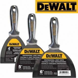 DEWALT Spachtel ganz aus Edelstahl 76-254mm Malerspachtel Markenprodukt