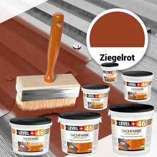 Dachfarbe Ziegelrot 1, 5kg - 25kg Sockelfarbe Dachlack Schutzanstrich LEVEL+ RM46