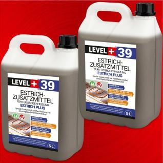 Estrichzusatzmittel 10L Fußbodenheizung, Heizestrich - Zementestrich Level+ RM39