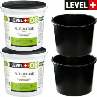 40kg Flüssigfolie + kostenlos 20L Baueimer 2 St. Dichtfolie PROFI LEVEL+ SET405