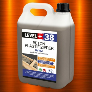 5L Beton-Zusatzmittel Fliessmittel Betonverflüssiger Plastifizierer PROFI RM38