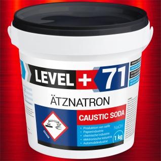 1kg Ätznatron, kaustisches Soda NaOH, Natriumhydroxid, LEVEL PLUS RM71