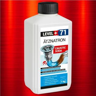 1kg Ätznatron, kaustisches Soda NaOH, Natriumhydroxid sichere Verpackung ! RM71
