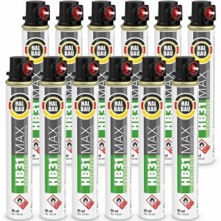 Gaskartuschen 80 ml 165mm (Fuel Cell) Gas Montana Paslode 12 Stk. HALBAU HB31