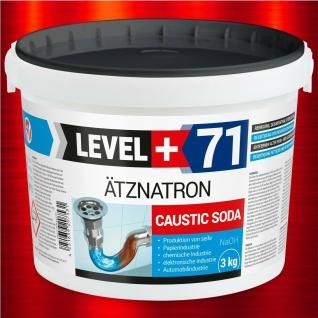 Ätznatron 3kg kaustisches Soda Natriumhydroxid NaOH, Soda Rohrreiniger RM71