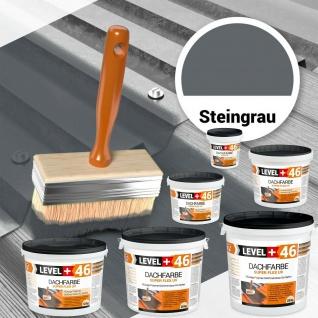 Dachfarbe wetterbeständig Steingrau 1, 5kg-25kg Sockelfarbe Dachbeschichtung RM46