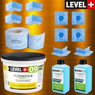 Dichtset Flussigfolie Spezial 12kg für Badabdichtung Balkon Dusche LEVEL+ SET66