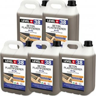 25L Level+ Betonzusatz Verflüssiger - Plastifizierer - Fliessmittel Profi RM38