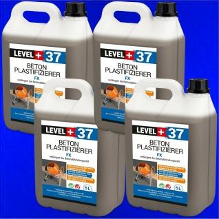 Verflüssiger Plastifizierer, 20L Beton-Zusatzmittel Betonverflüssiger 4x5L RM37