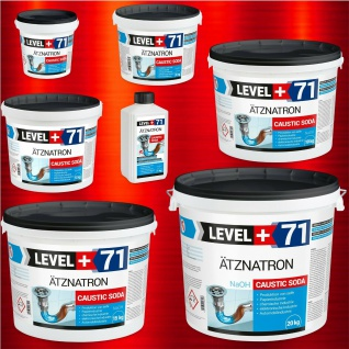 Ätznatron 1kg -25kg NaOH Natriumhydroxid 99% kaustisches Soda Microperlen RM71