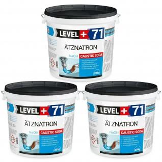 60kg Ätznatron Ätzsoda Natriumhydroxid NaOH Seifennatron Rohrreiniger RM71