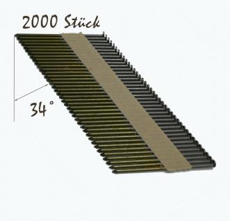 D-Kopf Streifennagel 3, 1x90mm, blank, glatt papiergebunden 2 000 stück + Gas 2x - Vorschau 5
