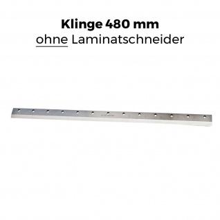 Ersatz-Klinge für die BAUTEC Laminatschneider Modell PLC 460H | gehärteter Stahl | extra scharf geschliffen | 480 mm Schnittbreite