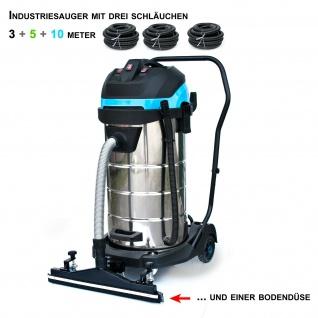 "BAUTEC 100 Liter ""all-in-one"" Industriesauger im XXL-Set | pmax 3.400 W | Nasssauger | Trockensauger"