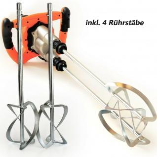 TECHWORK 2.050 Watt Rührwerk   Handrührgerät inkl. 4 Rührquirle   Mörtelrührer mit 2-Gang-Getriebe   Farbrührer   Rührgerät für Baustoffe