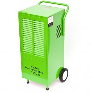 BAUTEC Bautrockner mit Kondensatpumpe / Luftentfeuchter für Räume bis 300 m² | 1.800 Watt | 158 Liter / Tag | Luftumwälzung 1200 m3/Std. | Hygrostat