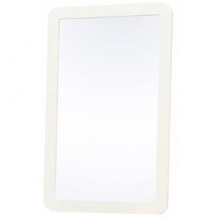 Prana - Spiegel, Wandspiegel mit Rahmen, abgerundete Kanten, weiss hochglanz - Vorschau 1