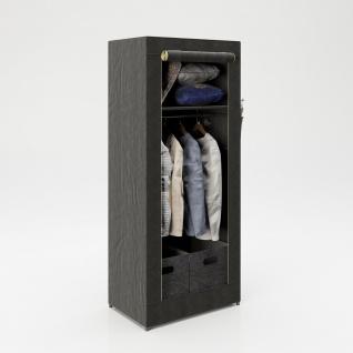 """PLAYBOY - Textilschrank """" TRACY"""" mit 1 Einlegeboden und 1 Kleiderstange, Reissverschluss, Retro-Design - Vorschau 2"""