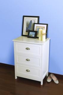 Country - Kommode, Telefontisch mit 3 Schubladen mit Metallgriffen, romantischer Landhausstil, in verschieden Farben