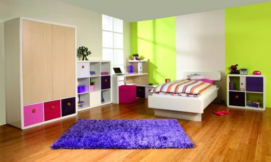 Prana - Wandgarderobe, Garderobe mit 2 Kleiderstangen, 3 Haken und 1 Hutablage, abgerundete Kanten, weiss hochglanz - Vorschau 4