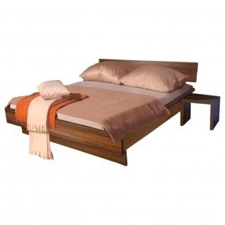 Dublin - Doppelbett, Bett, Bettrahmen 180x200cm mit Rückenlehne, nocce