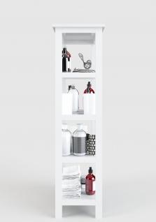 Country - Regal, Bücherregal mit 4 Böden, weiss lackiert, moderner Landhausstil - Vorschau 2