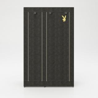 """PLAYBOY - Textilschrank """" TRACY"""" mit 6 Einlegeböden und 1 Kleiderstange, Reissverschluss, Retro-Design - Vorschau 2"""