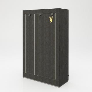 """PLAYBOY - Textilschrank """" TRACY"""" mit 6 Einlegeböden und 1 Kleiderstange, Reissverschluss, Retro-Design - Vorschau 5"""