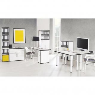 Chicago - höhenverstellbarer Schreibtischfuss aus Metall, 2er Set, weiss eloxiert mit schwarzem Kunststoffgewinde - Vorschau 5