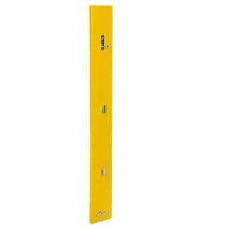 Miami Garderobenpanel mit 3 chromfarbenen Haken, Autometallic-Lackierung in gelb