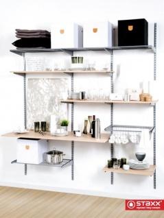 STAXX-System - moderne Industrial-Regale zur Wandfixierung, Starter-Set, endlos erweiterbar mit hoher Belastbarkeit, für Ihre Diele, Kleiderschrank, Werkraum, Küche, Büro, oder als Wohnwand, organisiertes-living Konzept