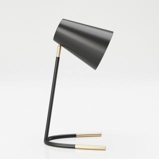 """PLAYBOY - Tischlampe """" AMELIA"""" aus Metall, schwarz mit Gold Akzenten, Retro-Design"""