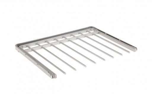 STAXX-System - ausziehbare Aufhänger für Hosen, Handtücher und Schals aus Metall, weiss und silber