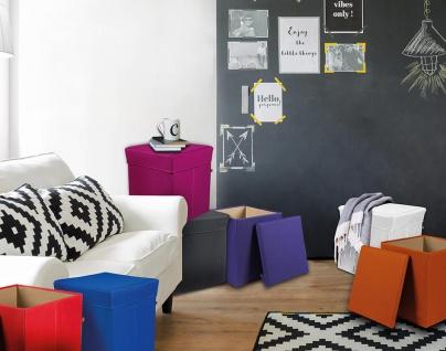 Stor' It - Sitz- und Aufbewahrungsboxen aus Canvas, in vielen verschiedenen Farben
