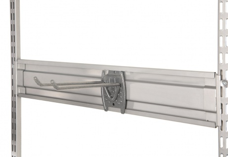 STAXX-System - Aufhängeleiste aus Metall für Werkzeughaken und Universalhaken, silber