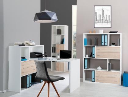Toronto - Regale / Raumteiler mit viel Stauraum, asymmetrischer Fachanordnung, weiss - in verschiedenen Grössen verfügbar