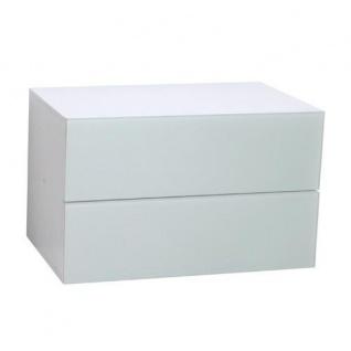 Atlanta - Schubladencontainer mit 2 Schubladen mit Push-Open-Funktion und Glasfront, in verschiedenen Farben