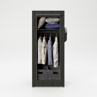 """PLAYBOY - Textilschrank """" TRACY"""" mit 1 Einlegeboden und 1 Kleiderstange, Reissverschluss, Retro-Design"""