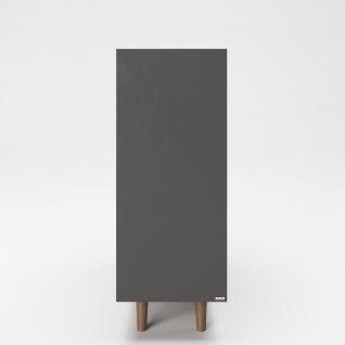 """PLAYBOY - Hochkommode """" VICTORIA"""" mit 2 Türen, sanft-schliessend und 2 Ablagen mit Glasboden und integriertem LED, Walnuss/Grau, Retro-Design - Vorschau 4"""