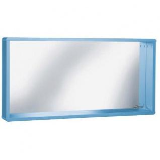 Miami Spiegel mit Rahmen und Ablage, Autometallic-Lackierung, ABS Kanten in blau