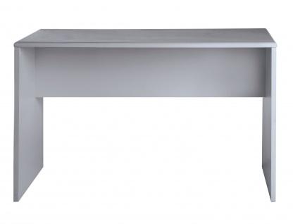 Miami - Schreibtisch , Autometallic Lackierung, Logo aus hochwertigem Autoschriftzug, in verschiedenen Farben, grau