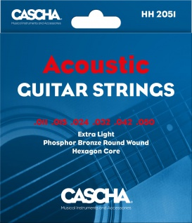 CASCHA HH 2051 Acoustic Guitar Strings .011-.050
